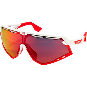 Rudy Project Defender Glasses white gloss/red fluo/multilaser red